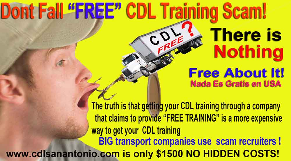 cdl training texas free training, what is free in usa?