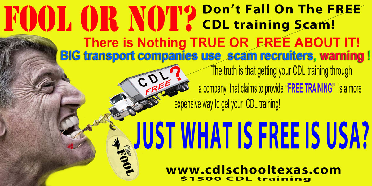 nothing is free in usa images is WHAT IS TEXAS SPONSORED CDL TRAINING