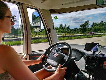 CDL driver in the vehicle